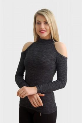 Yeni Elbisem Füme YEE-2512 Bayan Bluz