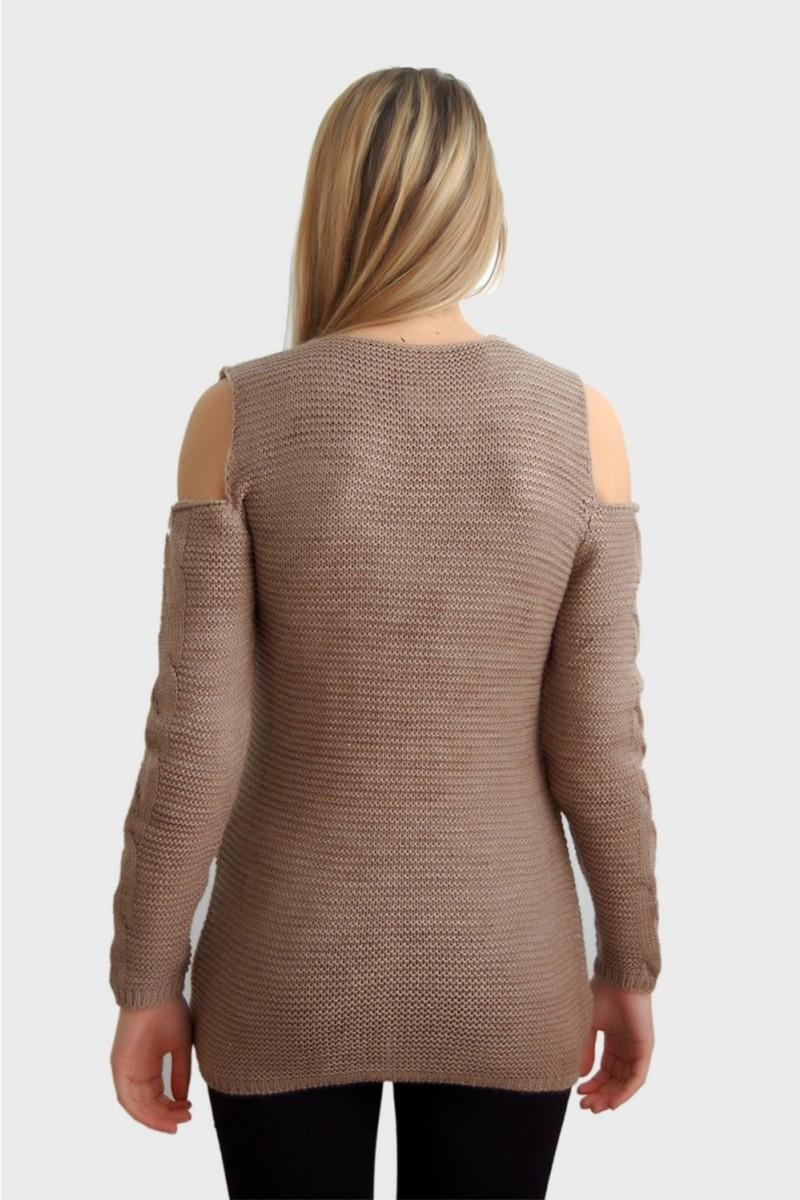 Yeni Elbisem Krem YEE-2458 Bayan Kazak