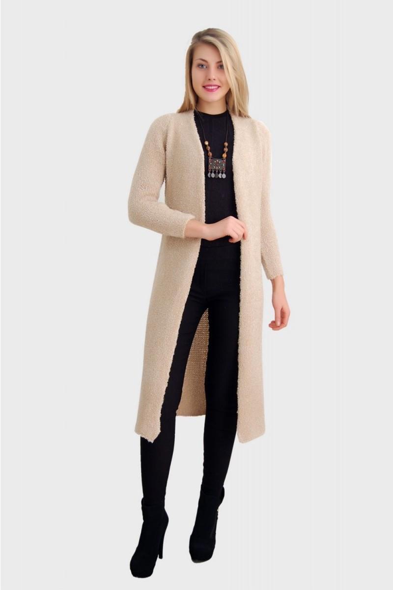 Yeni Elbisem Krem YEE-2415 Bayan Hırka