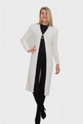 Yeni Elbisem Beyaz YEE-2401 Bayan Hırka