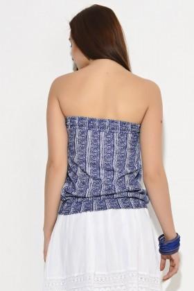 Yeni Elbisem Mavi YEE-1774 Bayan Bluz
