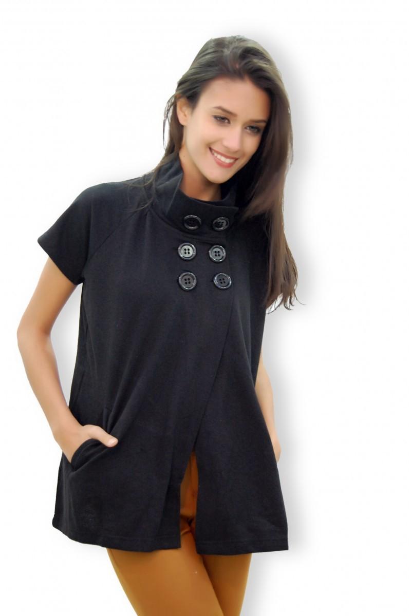 Yeni Elbisem Siyah YEE-1099 Bayan Hırka