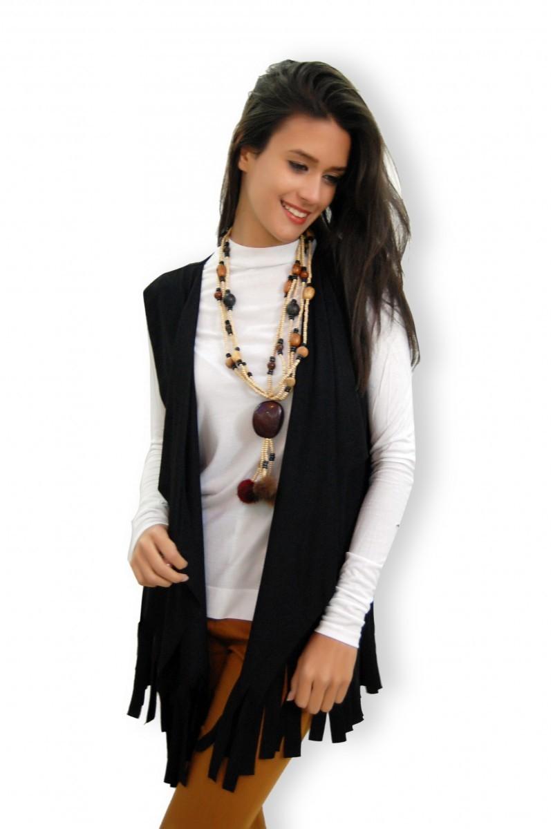 Yeni Elbisem Siyah YEE-1085 Bayan Yelek