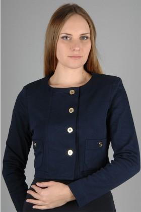Yeni Elbisem Lacivert YEE-1065 Bayan Ceket