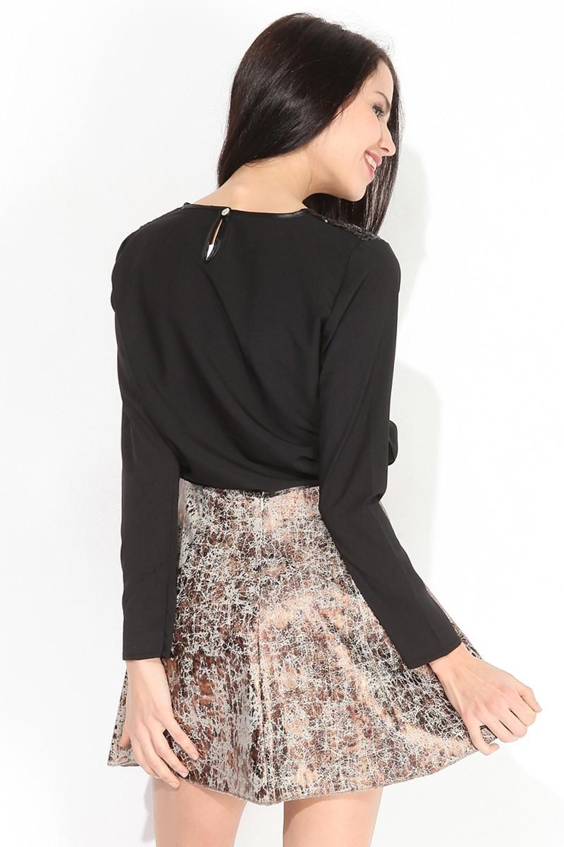 Yeni Elbisem Kahverengi YE-7140 Bayan Etek