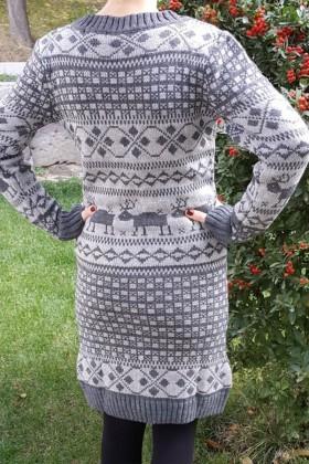 Yeni Elbisem Gri YE-6764 Bayan Triko Elbise
