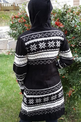 Yeni Elbisem Siyah YE-6735 Bayan Hırka