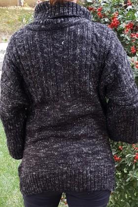 Yeni Elbisem Siyah YE-6726 Bayan Kazak
