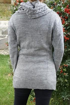 Yeni Elbisem Gri YE-6722 Bayan Kazak