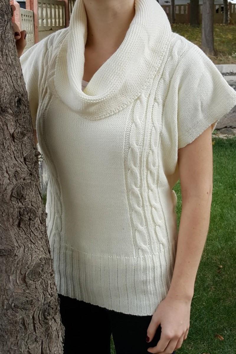 Yeni Elbisem Krem YE-6720 Bayan Kazak