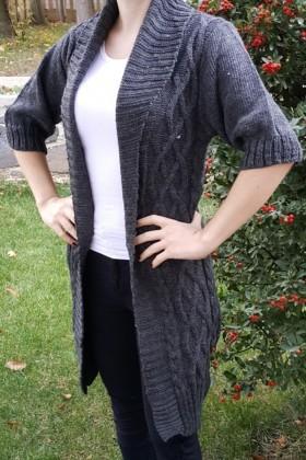 Yeni Elbisem Gri YE-6718 Bayan Hırka