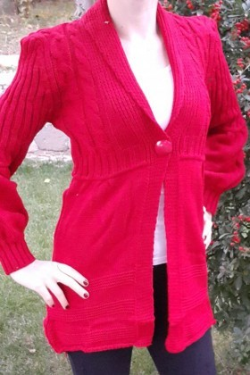Yeni Elbisem Pembe YE-6705 Bayan Hırka