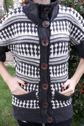 Yeni Elbisem Füme YE-6691 Bayan Hırka