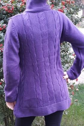 Yeni Elbisem Mor YE-6673 Bayan Hırka