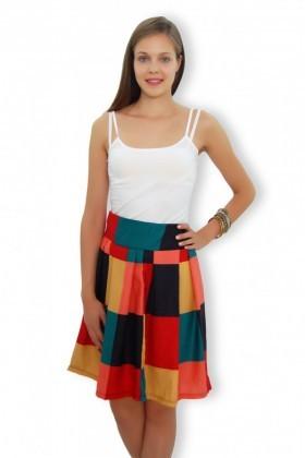 Yeni Elbisem Kırmızı YE-4225 Bayan Etek