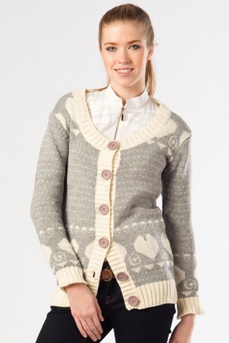 Yeni Elbisem Karışık Renkli YE-4049 Bayan Hırka