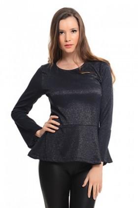 Yeni Elbisem Siyah YE-1003 Bayan Bluz