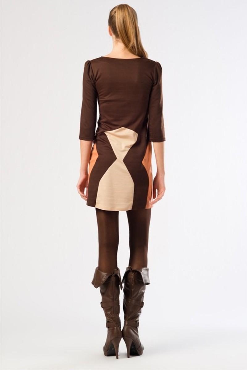 Yeni Elbisem Kahverengi YE-12K0007K Bayan Elbise