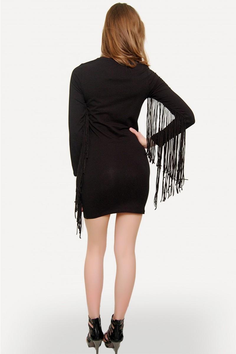 Yeni Elbisem Siyah YE-U5522 Bayan Elbise