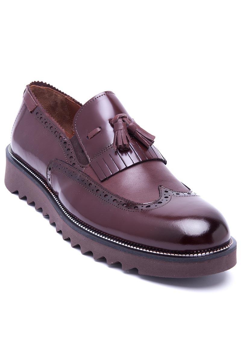 Wenetti Kahverengi WNT-1999 Hakiki Deri Erkek Ayakkabı