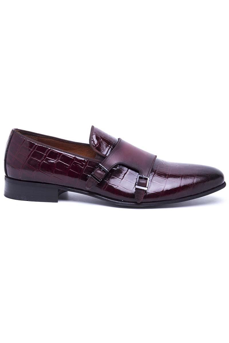 Wenetti Bordo WNT-691-BORDO Hakiki Deri Klasik Erkek Ayakkabı