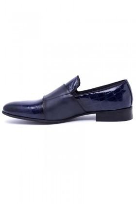 Wenetti Lacivert WNT-691 Hakiki Deri Klasik Erkek Ayakkabı