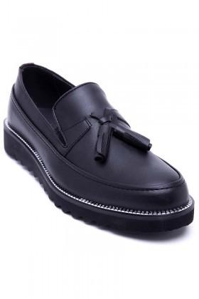 BLUESOIL Siyah BS-20-058-MAT Erkek Ayakkabı