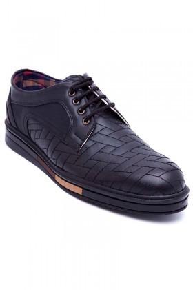 Polomen Siyah PLM-046-SYH Erkek Ayakkabı