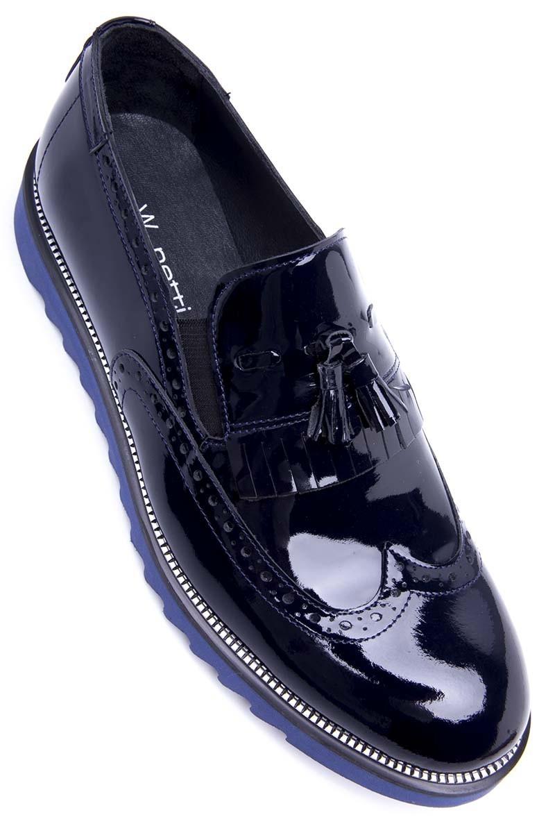 Three Star Lacivert-Mavi WNT-1999-LACI-MAVI Hakiki Deri Erkek Ayakkabı