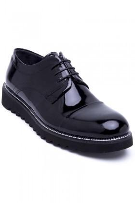 Three Star Siyah WNT-700 Hakiki Deri Erkek Ayakkabı