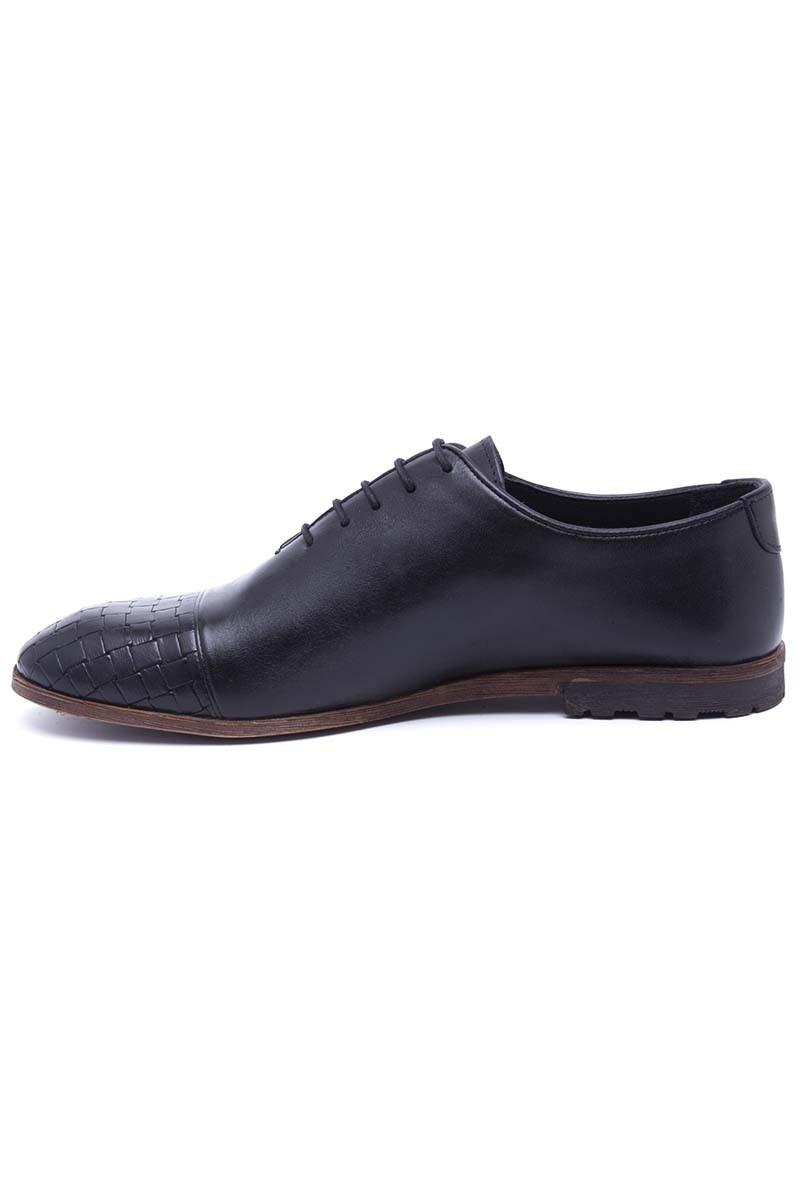 Three Star Siyah TS-2551-SYH Hakiki Deri Erkek Ayakkabı