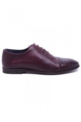 Three Star Bordo TS-1604-BORDO Hakiki Deri Erkek Ayakkabı