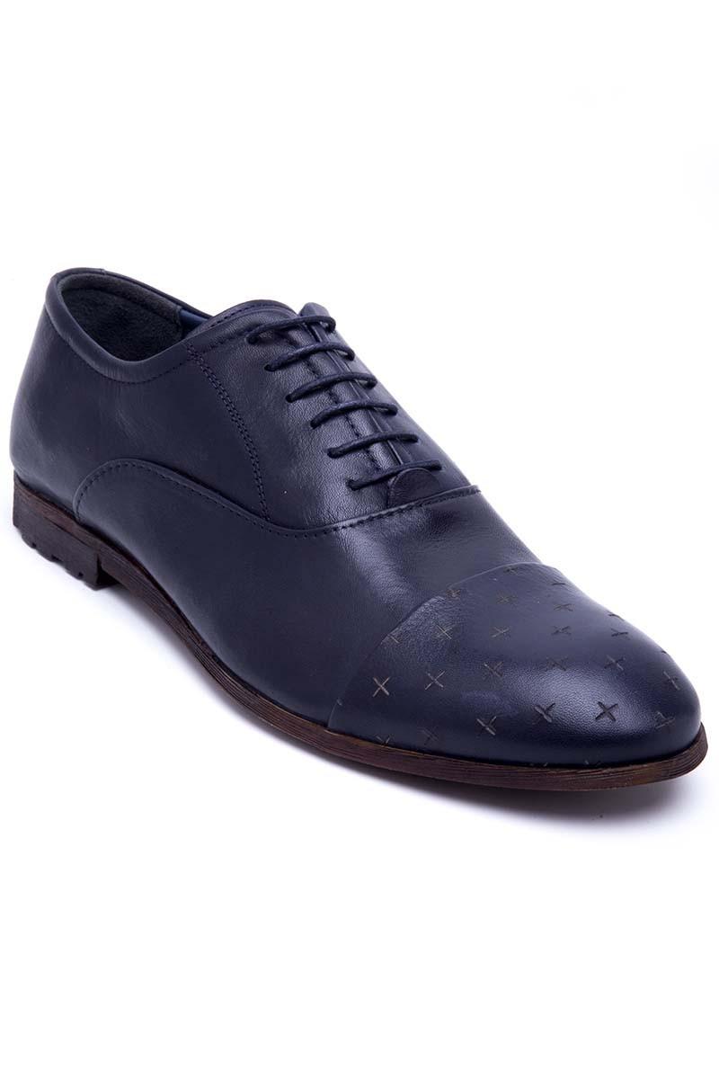 Three Star Lacivert TS-2131-LACI Hakiki Deri Erkek Ayakkabı