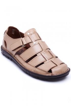 Peker Kum PK-100 Hakiki Deri Erkek Sandalet