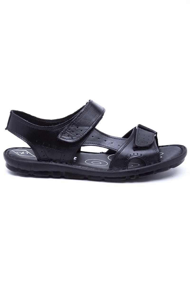 Peker Siyah PK-300-SYH Hakiki Deri Erkek Sandalet