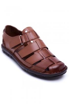 Peker Taba PK-100-TABA Hakiki Deri Erkek Sandalet