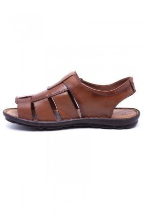 Peker Taba PK-200 Hakiki Deri Erkek Sandalet