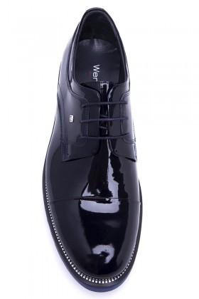 Wenetti Lacivert WNT-700 Hakiki Deri Erkek Ayakkabı