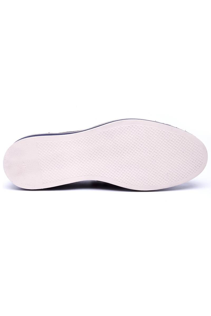 Pandew Lacivert PNDW-00265-MAT Hakiki Deri Erkek Ayakkabı