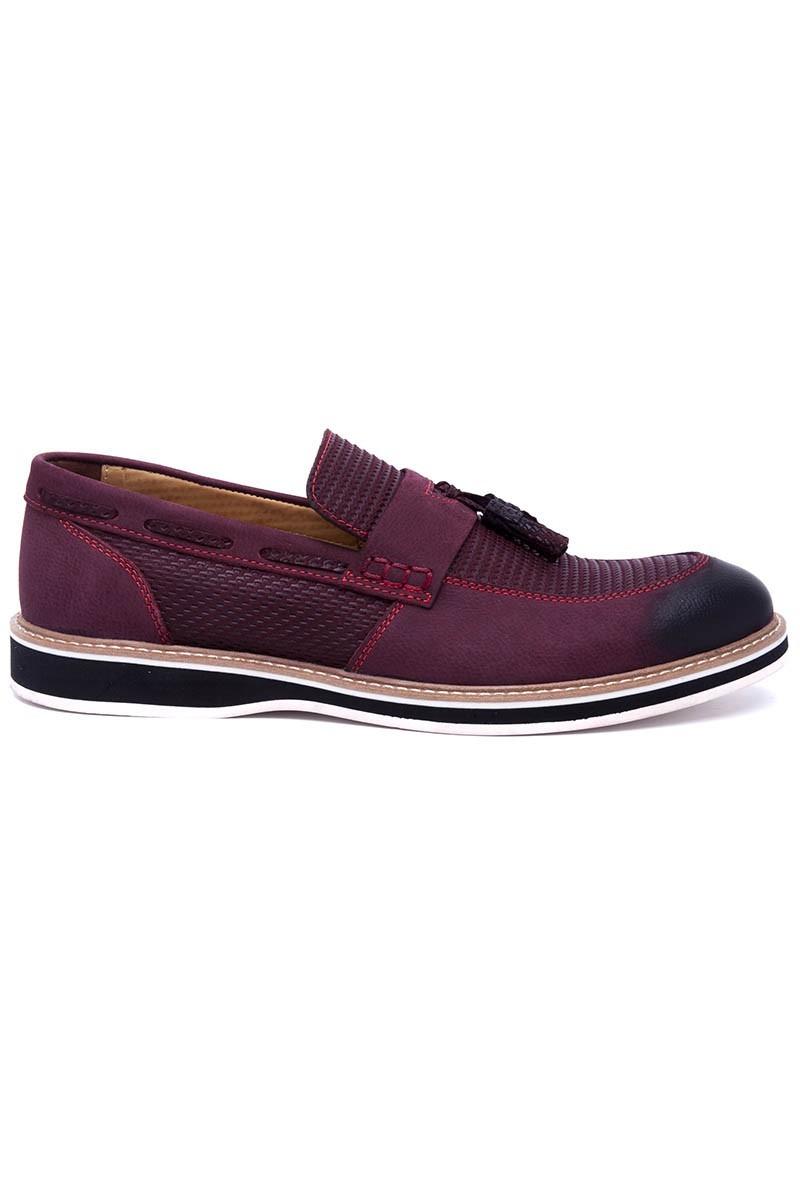 Pandew Bordo PNDW-00265-BORDO Hakiki Deri Erkek Ayakkabı