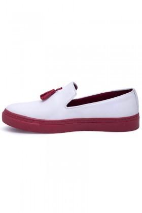 BLUESOIL Beyaz-Kırmızı BS-20-045 Erkek Ayakkabı