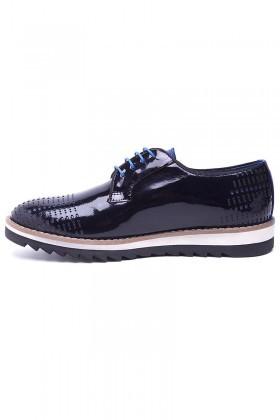 Pandew Lacivert-Mavi PNDW-800-10 Hakiki Deri Erkek Ayakkabı