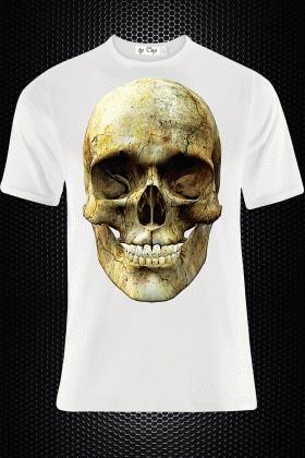 BLUESOIL Beyaz BS-M002 3D Baskılı Erkek Tişört