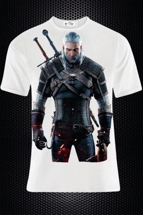BLUESOIL Beyaz BS-M010 3D Baskılı Erkek Tişört