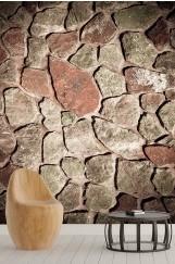 Taş Duvar Desenli Duvar Kağıdı