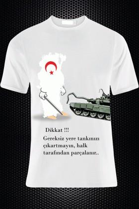 By Tugi Beyaz HLG-001 Erkek Tişört