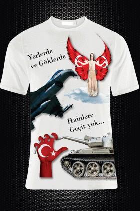 By Tugi Beyaz HLG-002 Erkek Tişört
