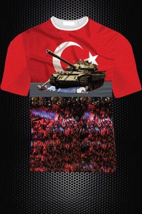 By Tugi Karışık Renkli HLG-003 Erkek Tişört