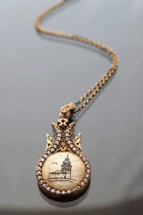 Menessa Bronz MS-BG1082 Kız Kulesi Kolye