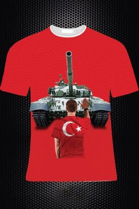 By Tugi Kırmızı HLG-005 Erkek Tişört